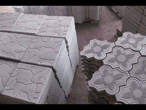 тротуарная плитка своими руками без форм