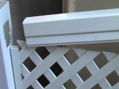 Установка пластикового забора-решетки ТМ Казачка