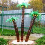 Мастер-класс: пальма из пластиковых бутылок своими руками. миниатюра