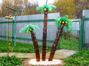 Мастер-класс: пальма из пластиковых бутылок своими руками.