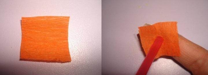 накручиваем бумагу на трубочку