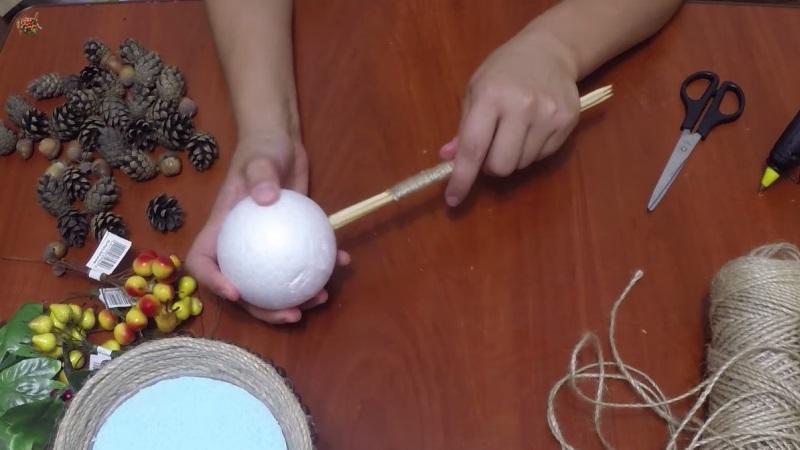 соединяем шар со стволом