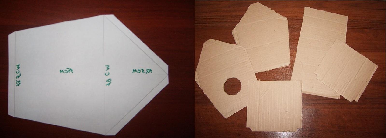 делаем заготовки из картона