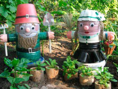 Садовые фигурки для дачи своими руками.