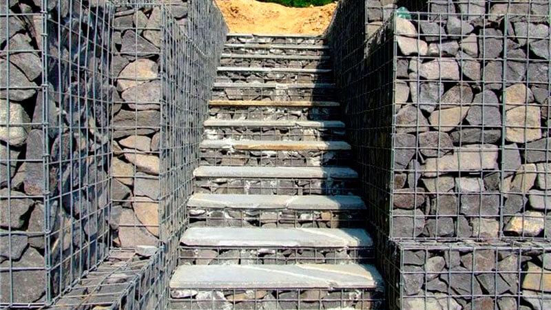 габионы лестницы