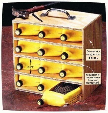 ящик для инструментов из пластиковых бутылок