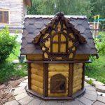 Домик для колодца своими руками. Строительство оголовков. миниатюра