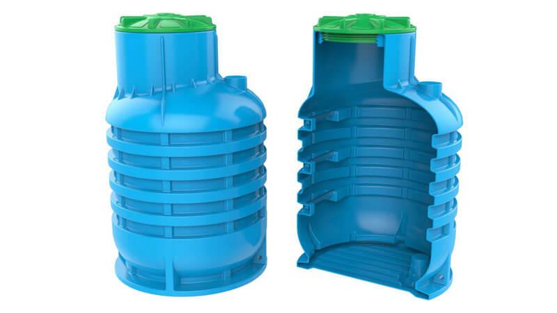 пластиковый колодец для скважины